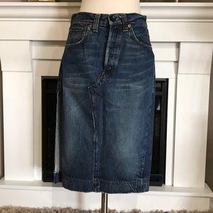 Vintage Levi's 501XX   Button Fly Denim  Skirt